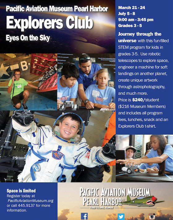 Pacific Aviation Museum Explorers Club, 2016, Hawaii